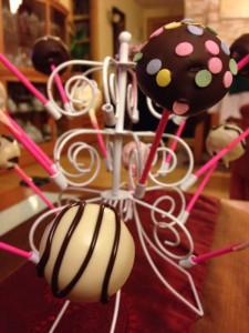Presentación de cake pops