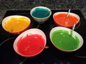 Colorantes de la Tarta Arcoiris