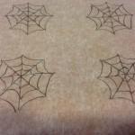 Telas de araña con chocolate
